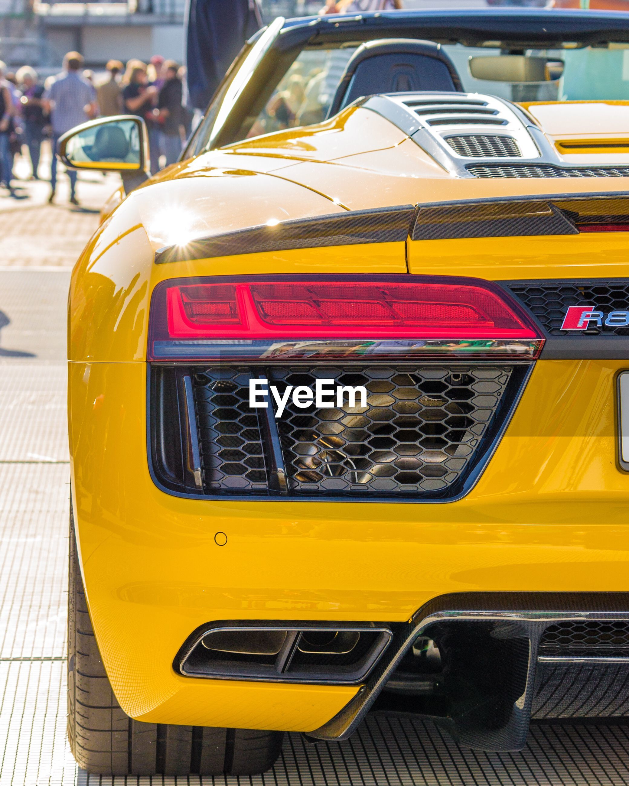 yellow, mode of transport, transportation, car, land vehicle, day, outdoors, no people, close-up