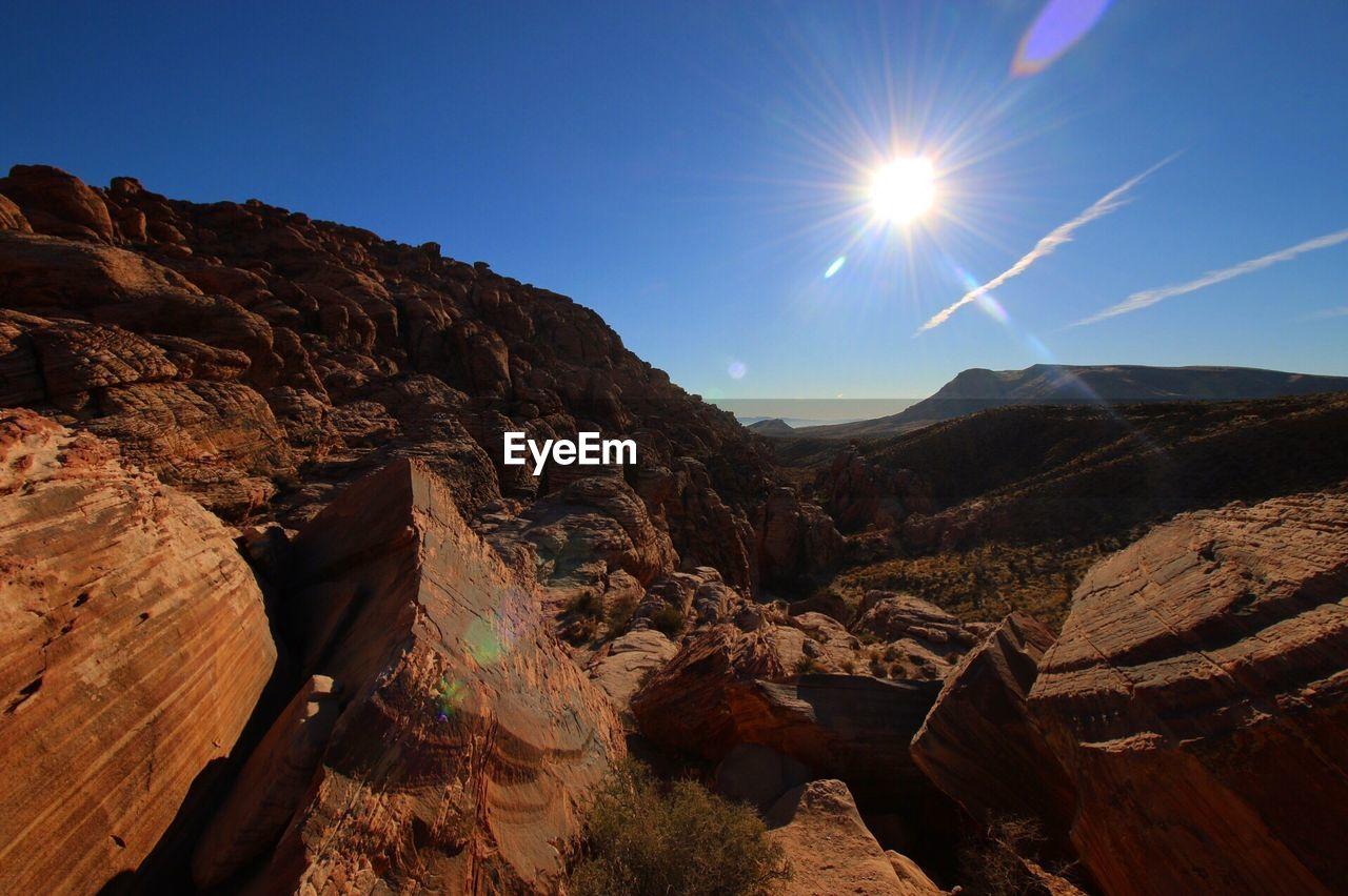 sun, nature, mountain, sunlight, landscape, beauty in nature, sunshine, no people, sky, outdoors