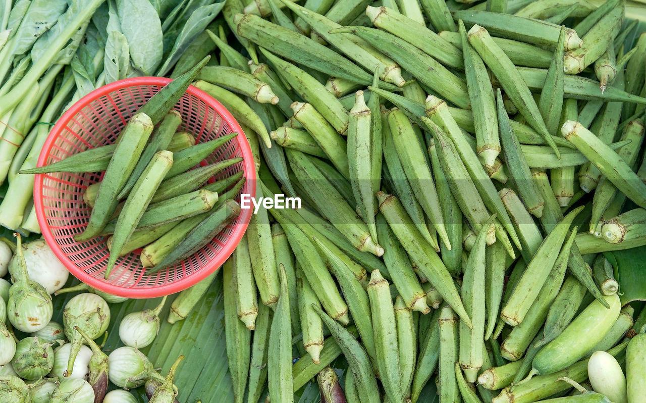 Green Vegetable Been Sold In Market