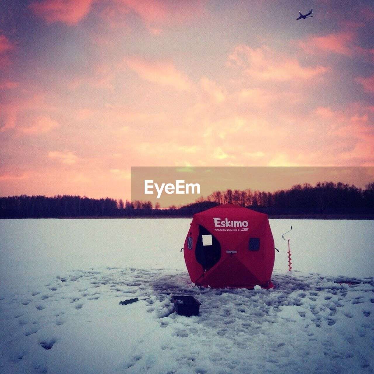 snow, sky, cold temperature, winter, text, weather, nature, outdoors, communication, no people, beauty in nature, red, sunset, scenics, tranquility, water, day, tree