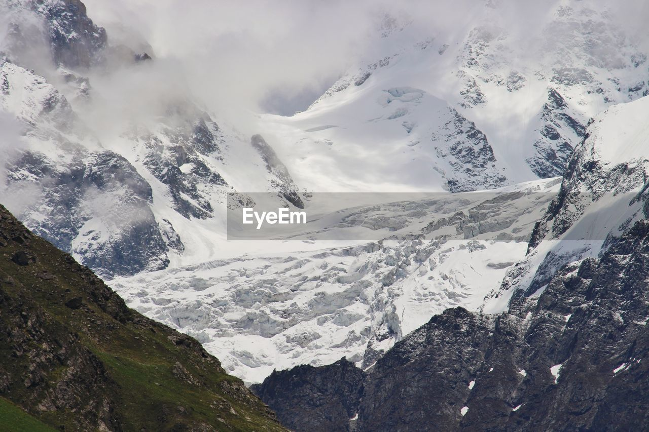 snow, cold temperature, winter, mountain, nature, beauty in nature, weather, tranquil scene, scenics, tranquility, snowcapped mountain, no people, outdoors, day, mountain range, sky