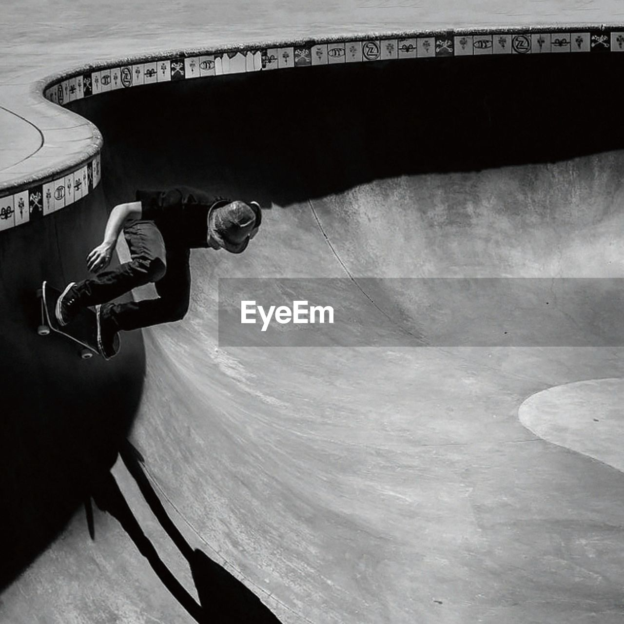 Man Skateboarding In Park