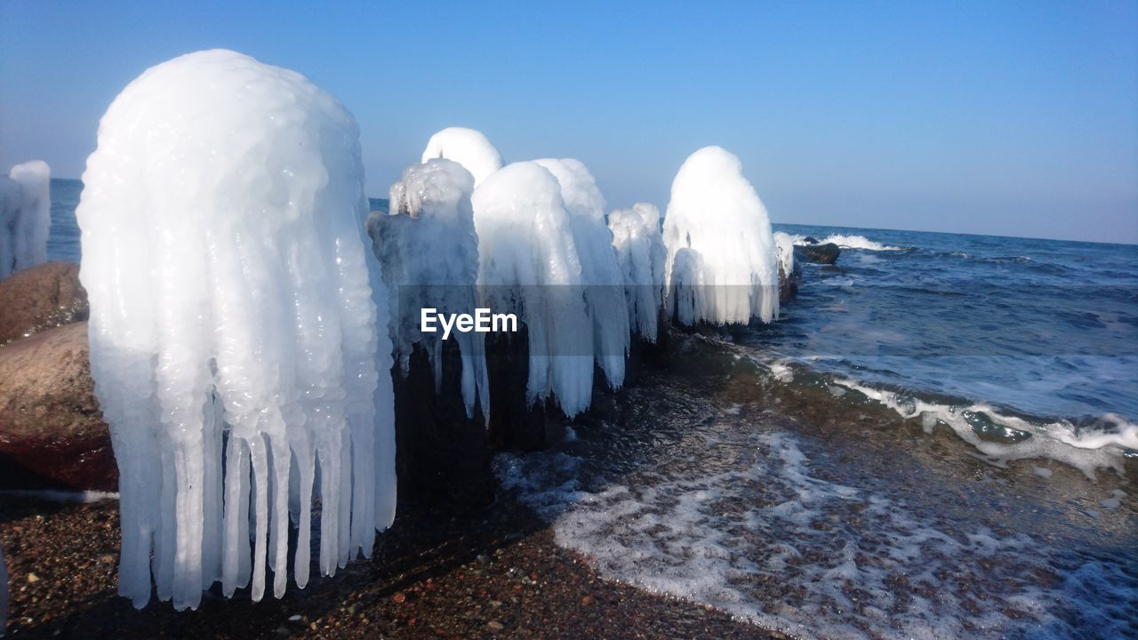 nature, cold temperature, white color, no people, ice, beauty in nature, winter, outdoors, frozen, snow, water, day, scenics, sea, sky