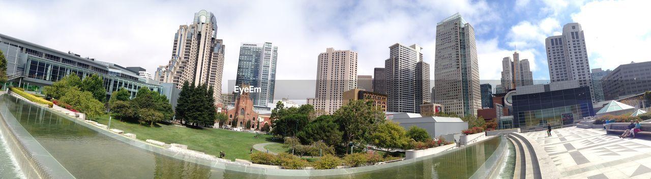PANORAMIC VIEW OF CITY BUILDINGS