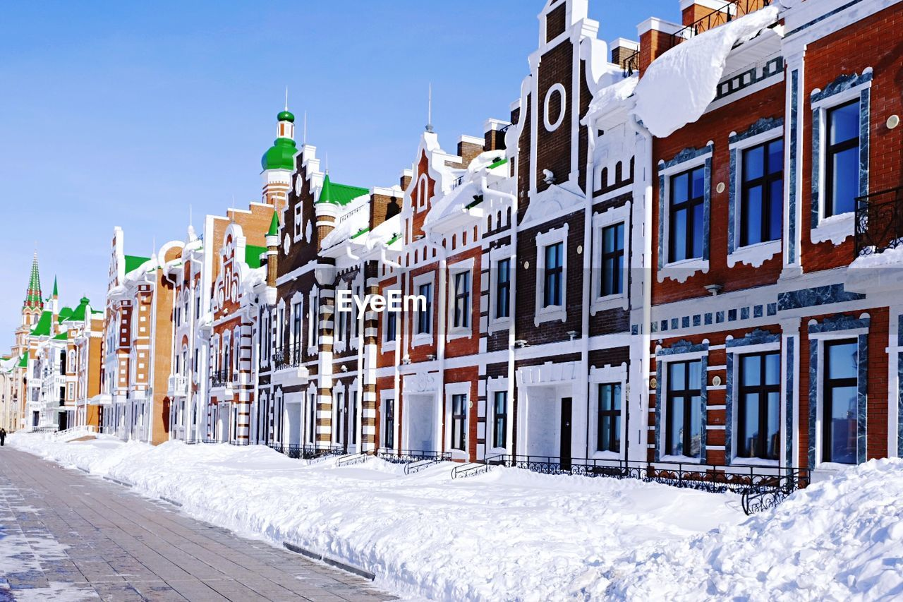 RESIDENTIAL BUILDINGS IN WINTER