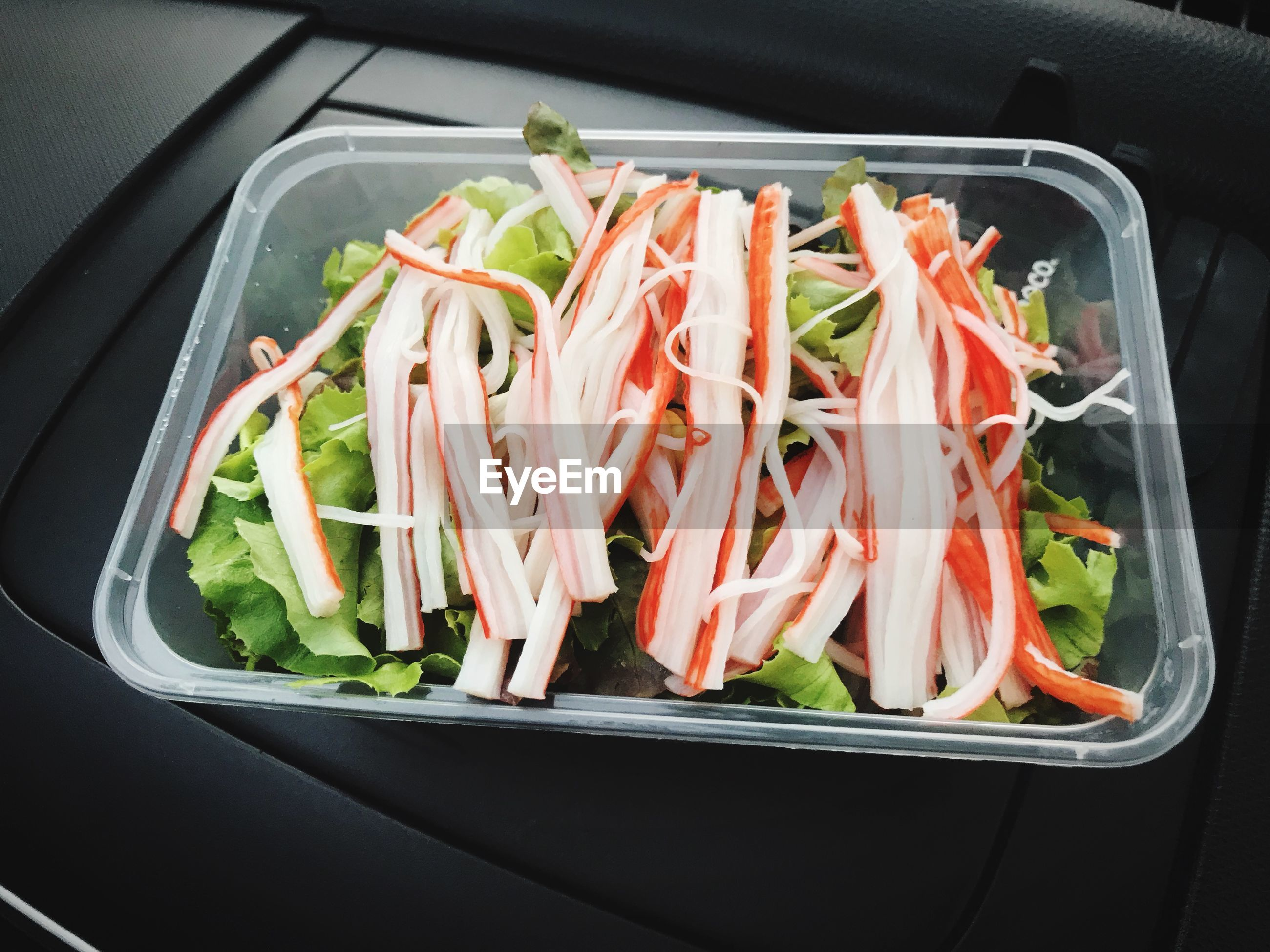 HIGH ANGLE VIEW OF FRESH VEGETABLES IN CONTAINER