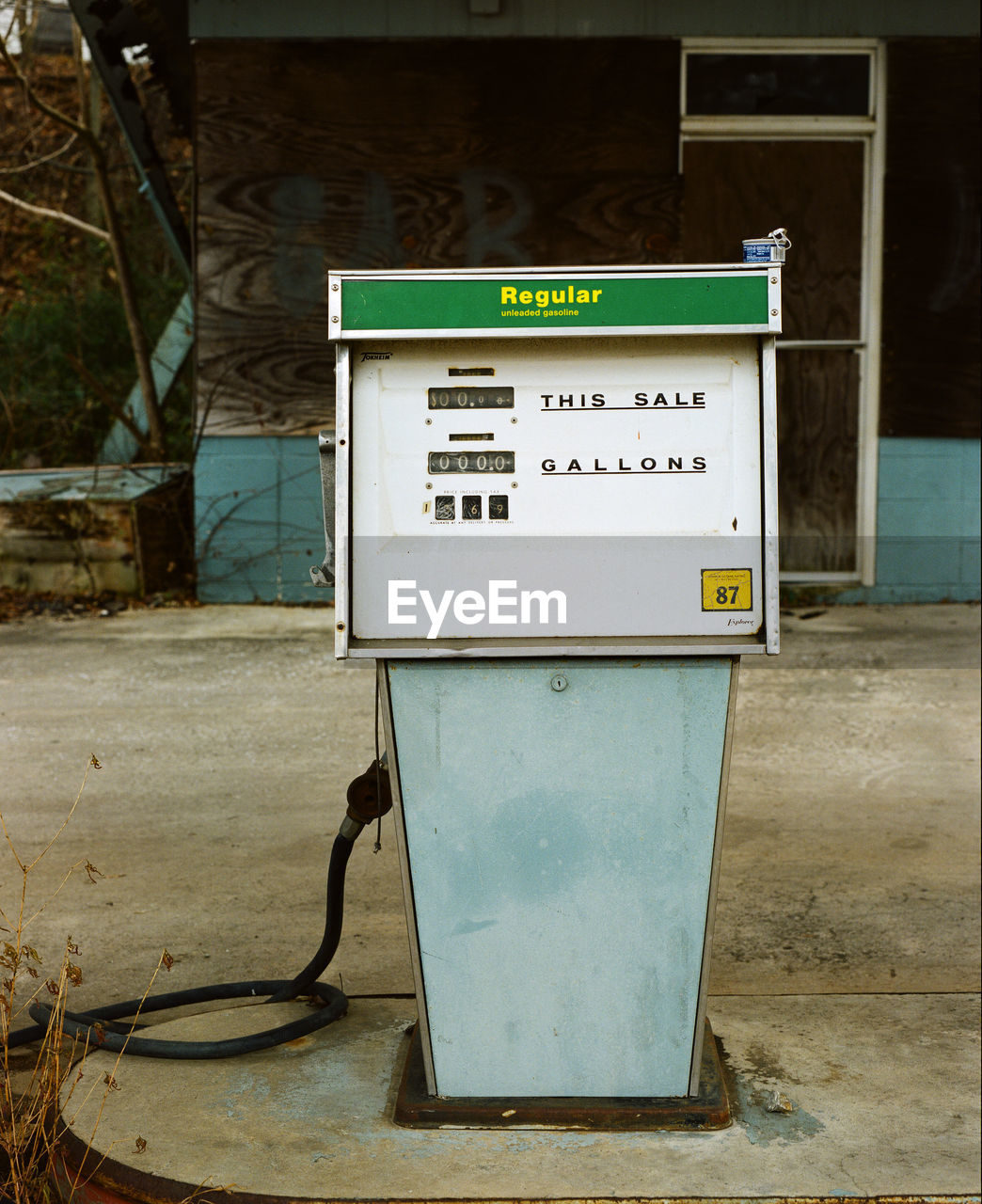 Fuel pump in gas station