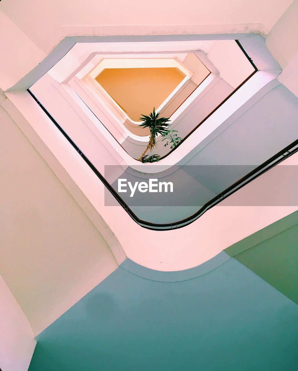 architecture, built structure, indoors, high angle view, real people, one person, ceiling, day, invertebrate, lifestyles, technology, nature, design, building, photography themes, staircase, animal themes