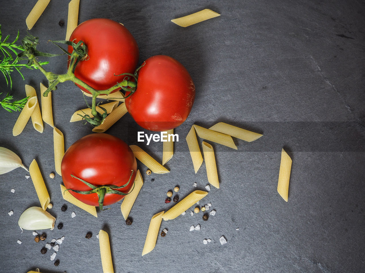 Ingredients for pasta preparation
