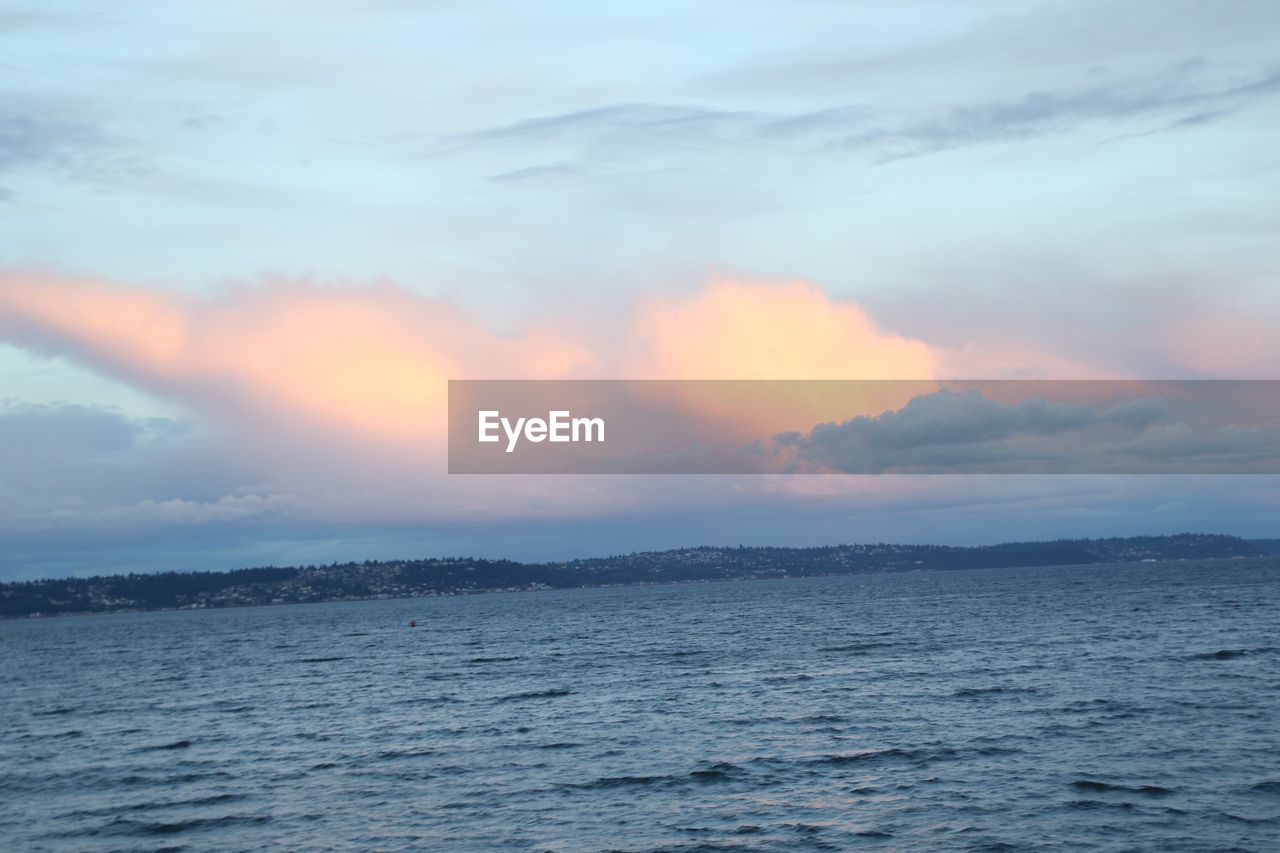 sky, cloud - sky, beauty in nature, sunset, tranquility, water, scenics - nature, sea, tranquil scene, waterfront, nature, no people, outdoors, idyllic, non-urban scene, orange color, horizon, horizon over water, remote