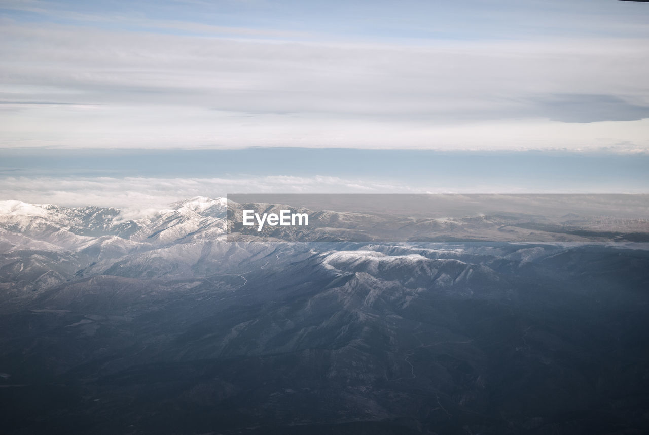 Mountains seen from a plane