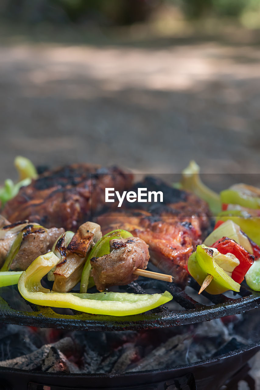 food and drink, food, meat, ready-to-eat, freshness, barbecue, grilled, vegetable, healthy eating, plate, close-up, wellbeing, day, no people, chicken meat, selective focus, focus on foreground, chicken, meal, table, white meat, dinner, temptation