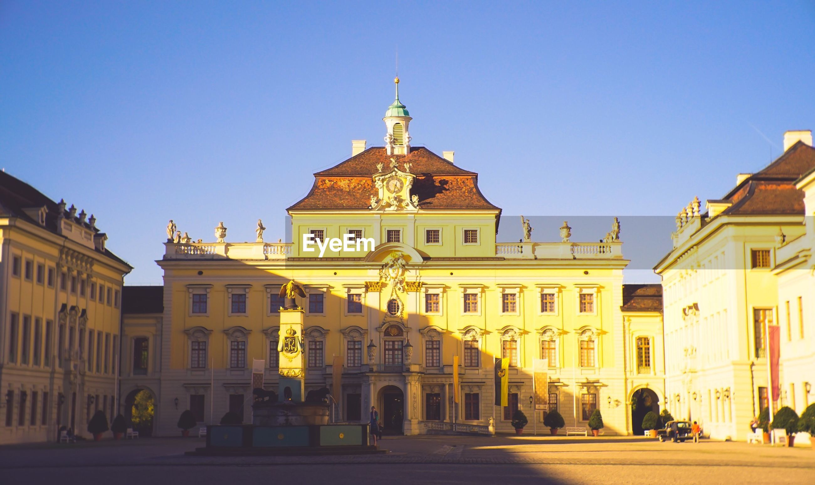 Ludwigsburg palace against clear sky on sunny day
