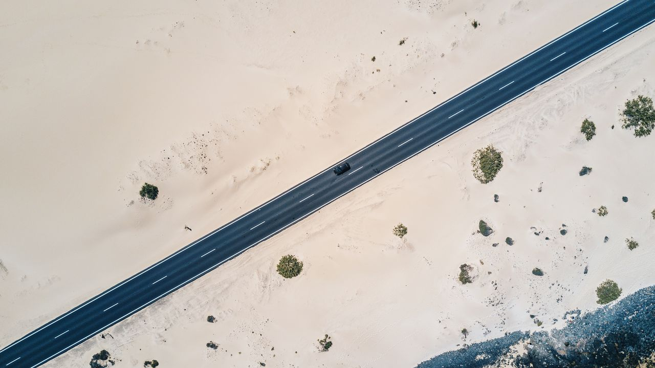 Aerial View Of Car Against Sky