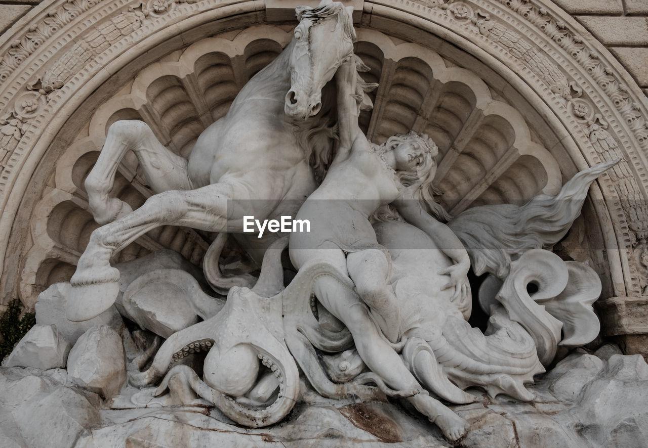 Full Frame Shot Of Sculptures At Scalinata Del Pincio