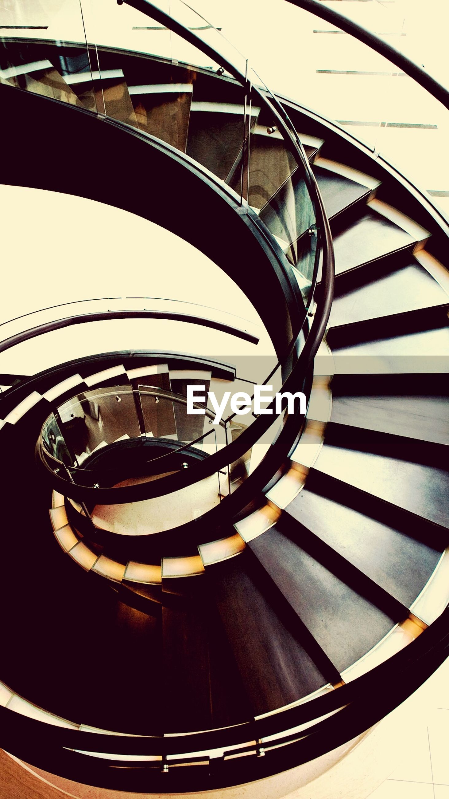railing, architecture, built structure, spiral, staircase, no people, steps and staircases, steps, spiral staircase, concentric, outdoors, close-up, day
