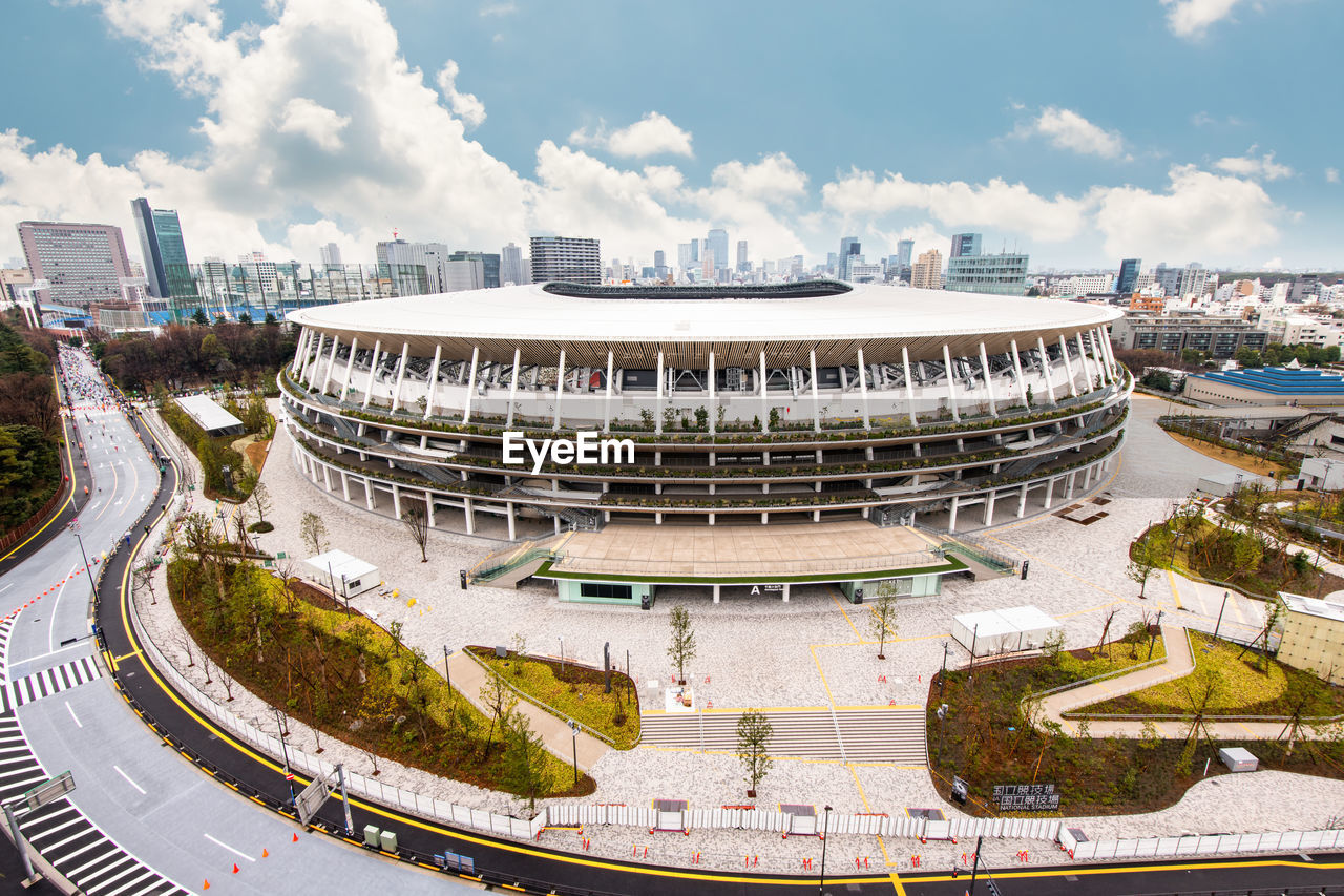 New national stadium under construction for tokyo olympic 2020, tokyo, japan - 26 january 2020