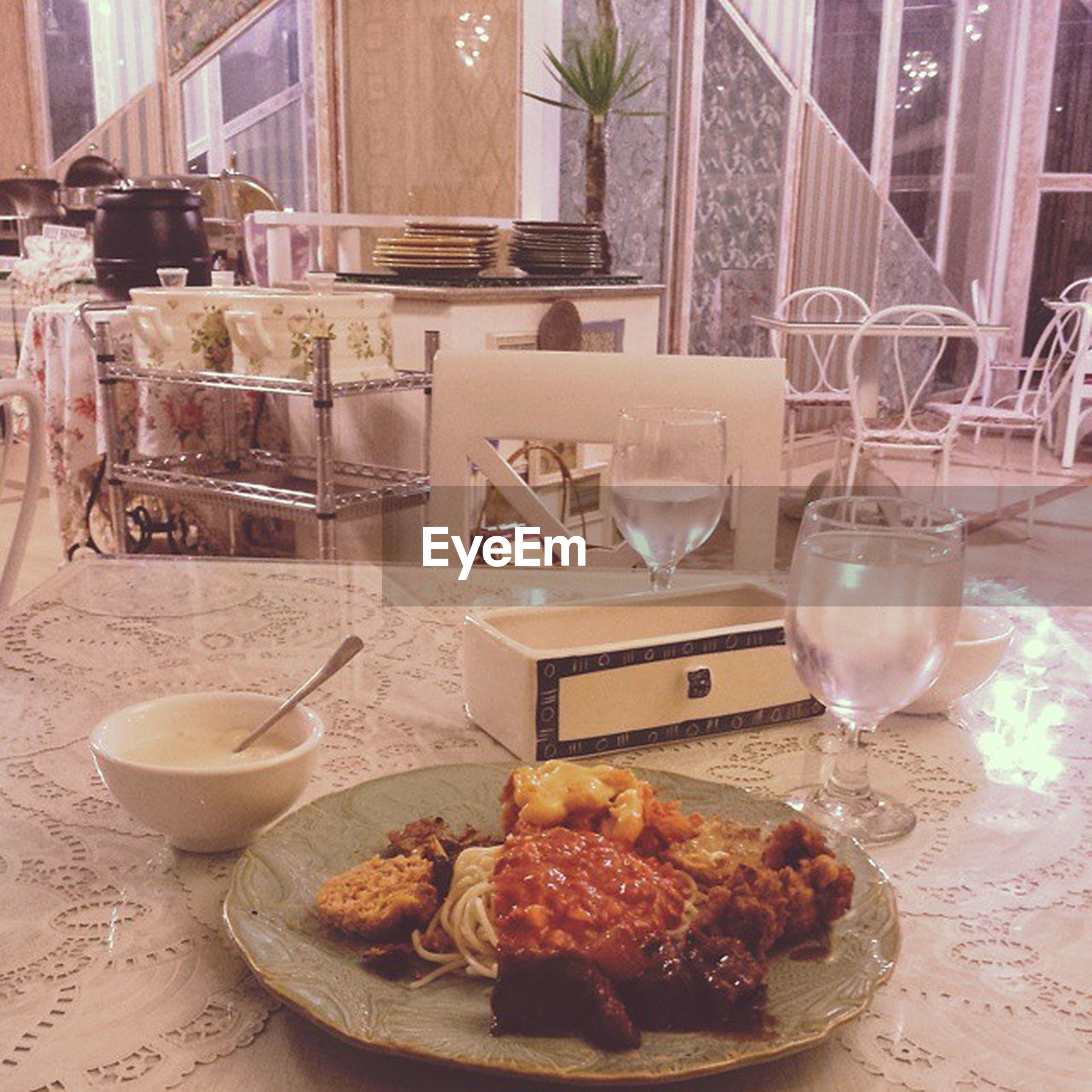 food and drink, table, food, freshness, indoors, plate, drink, ready-to-eat, restaurant, drinking glass, still life, refreshment, healthy eating, serving size, indulgence, chair, breakfast, dining table, meal