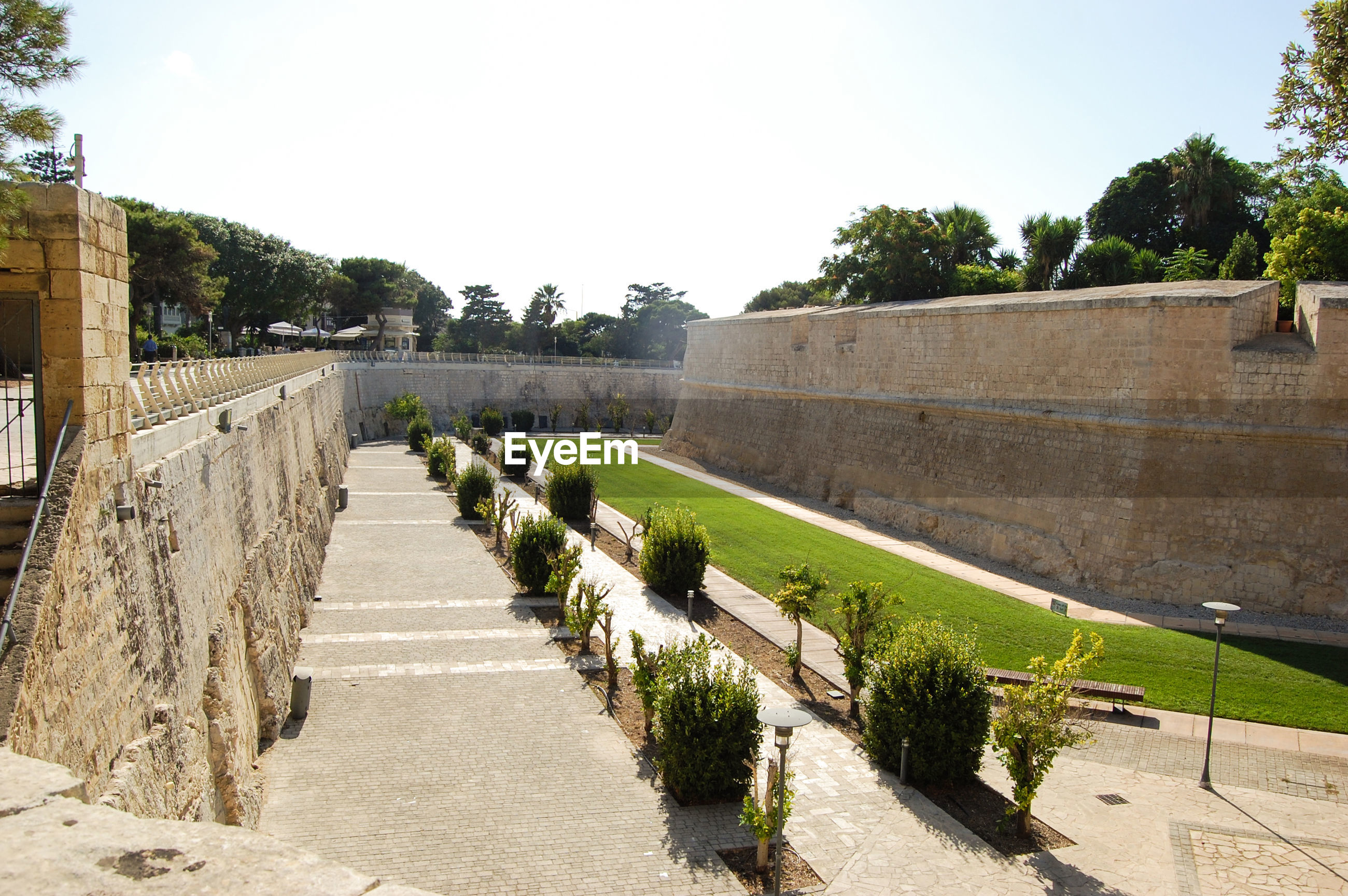 VIEW OF FORT AGAINST WALL