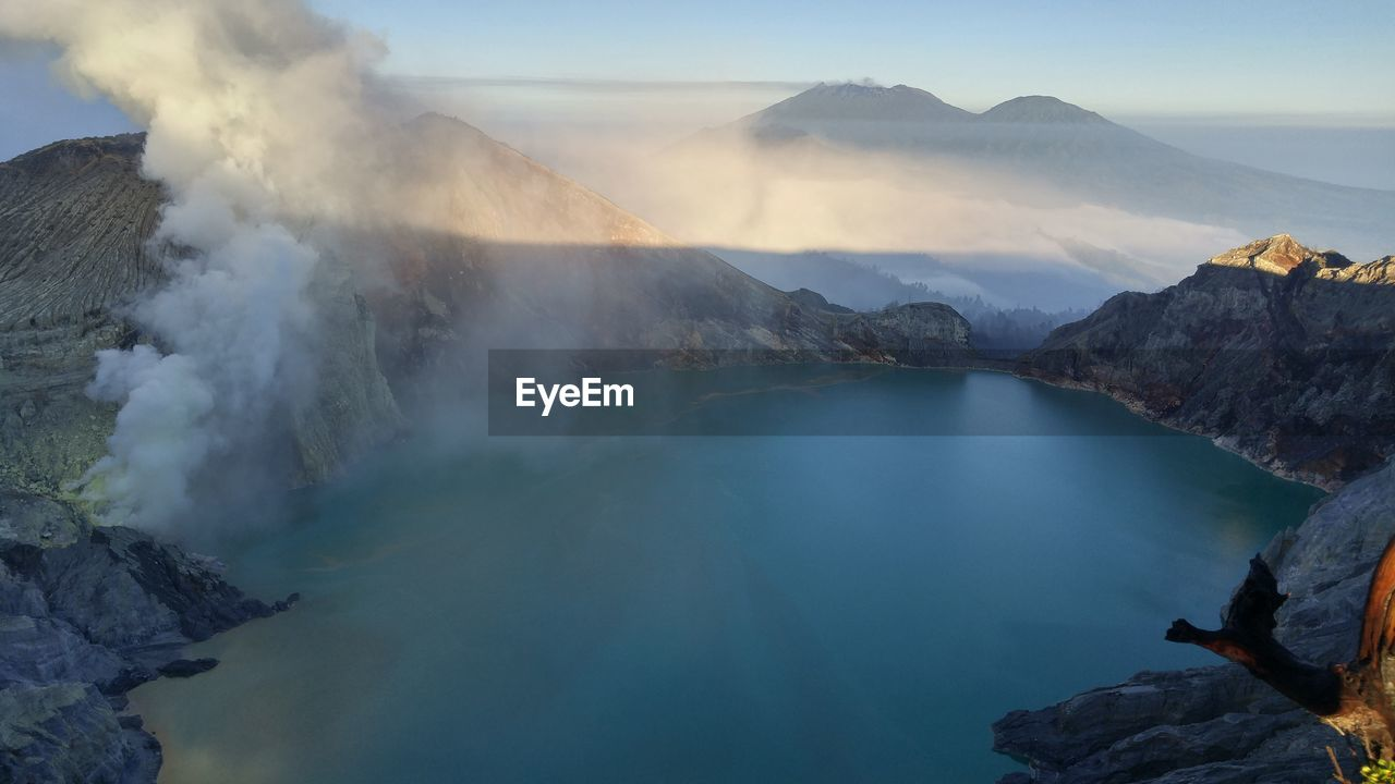 Scenic View Of Crater Lake