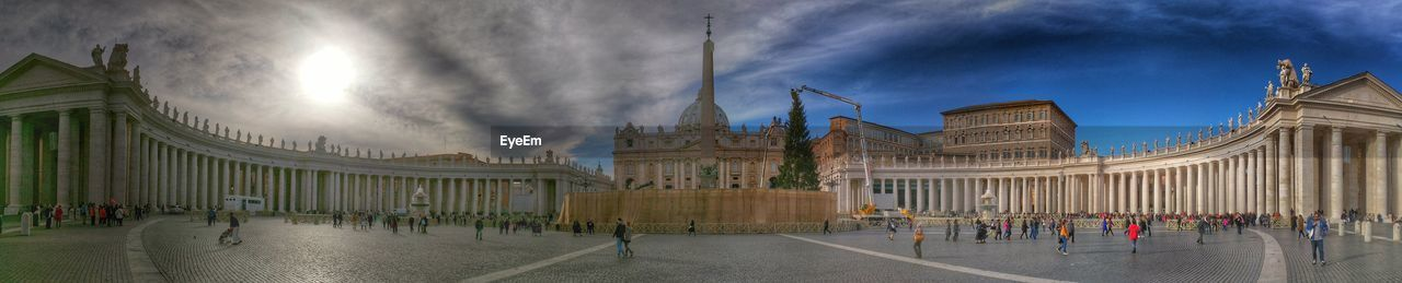 Panoramic shot of st peter square