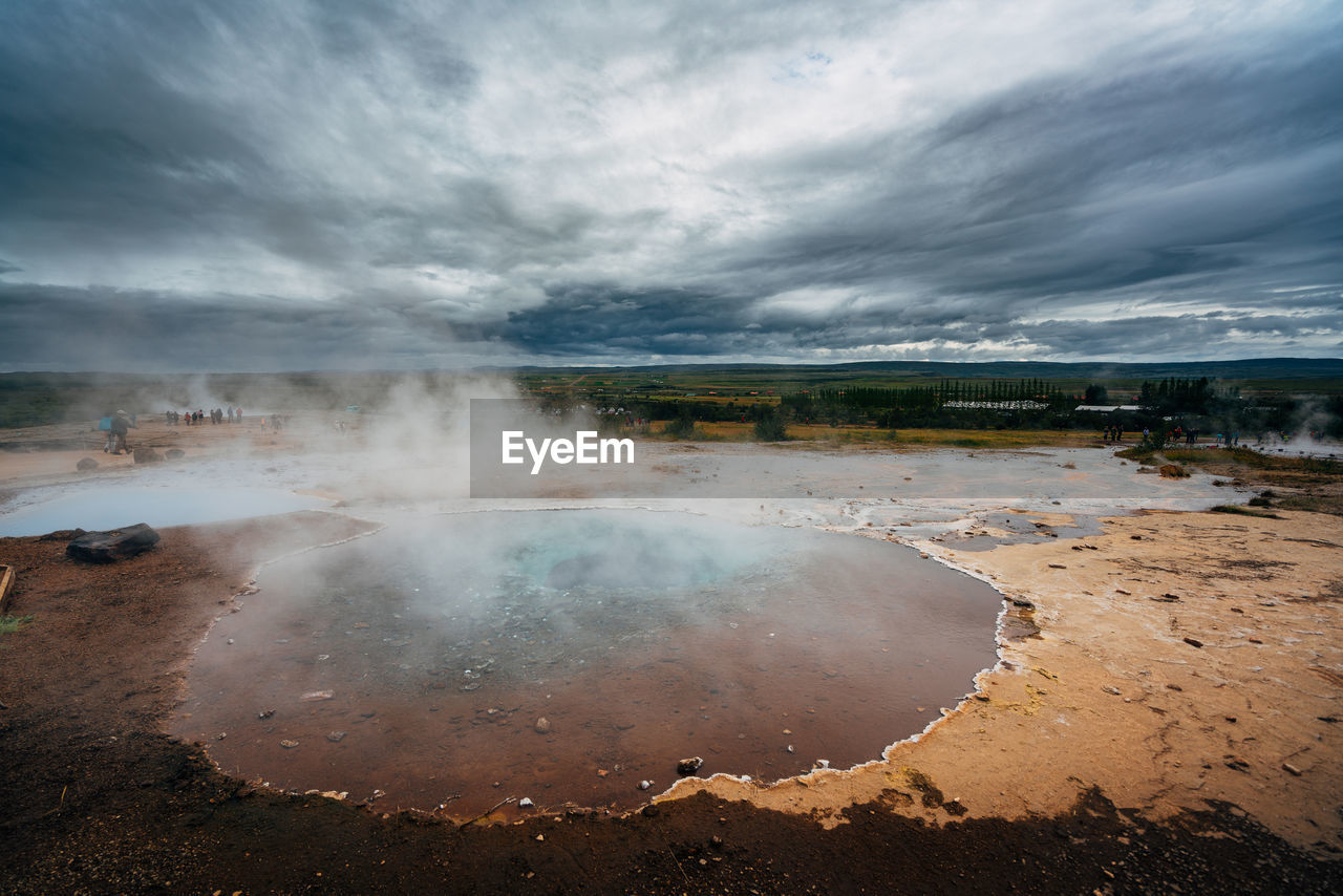 View Of Geyser At Yellowstone National Park