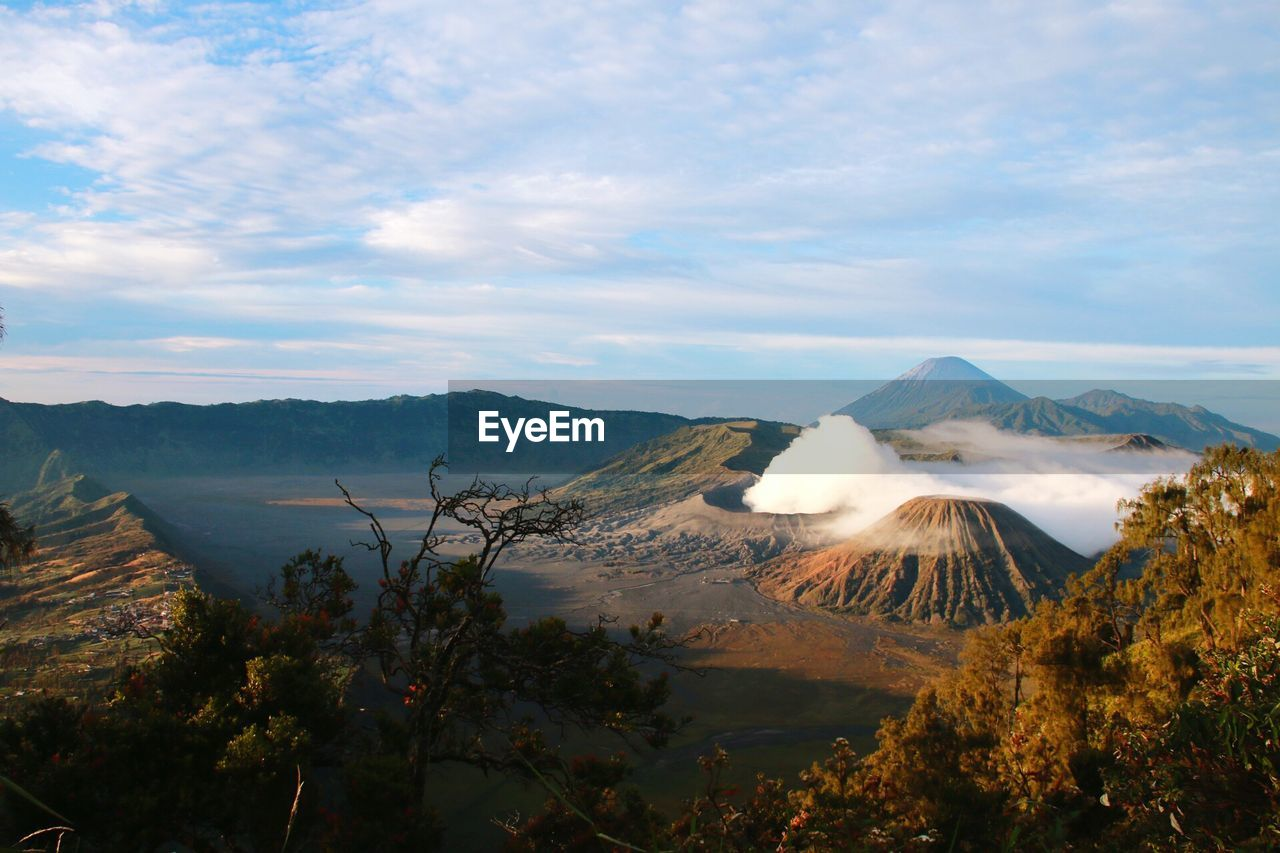 Smoke Emitting From Active Volcanic