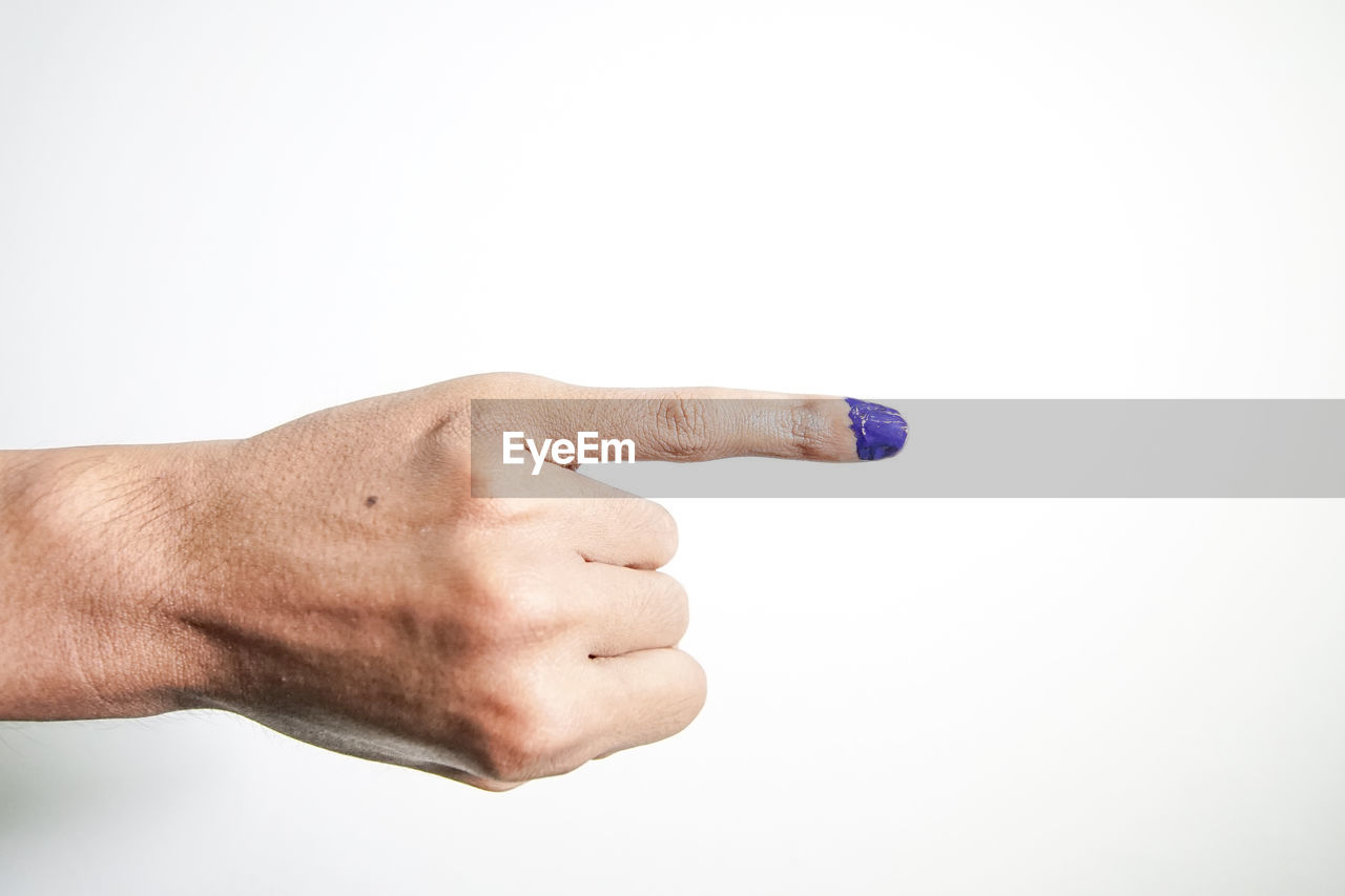 human hand, studio shot, hand, white background, human body part, one person, copy space, indoors, body part, finger, human finger, men, close-up, fist, holding, cut out, human limb, lifestyles, showing