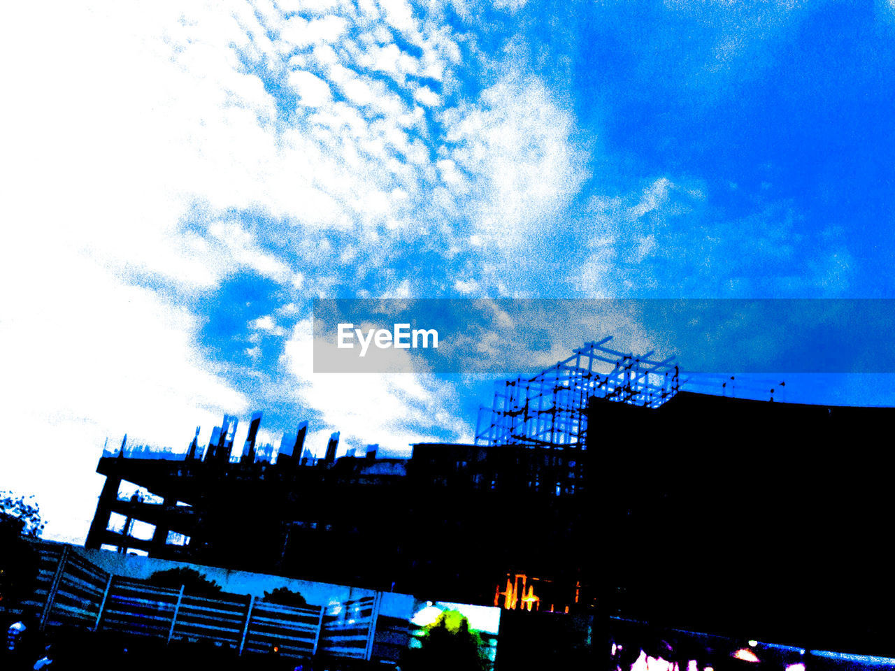 low angle view, architecture, built structure, building exterior, sky, outdoors, no people, day