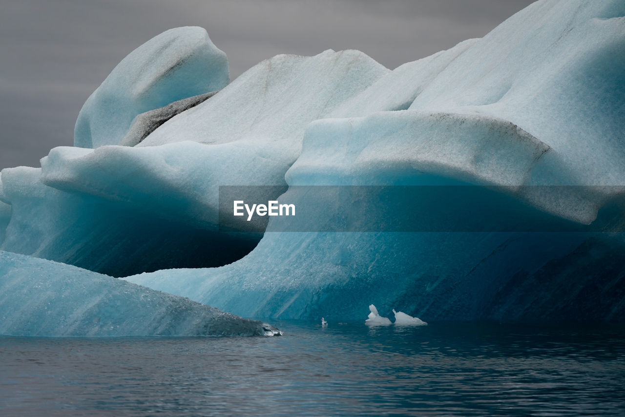 Close-Up Of Icebergs On Sea
