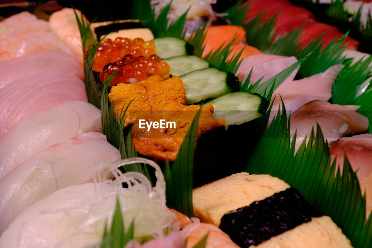 freshness, food and drink, seafood, sushi, food, healthy eating, japanese food, still life, ready-to-eat, sashimi, serving size, indoors, plate, slice, salmon, close-up, fish, selective focus, raw food, no people, day