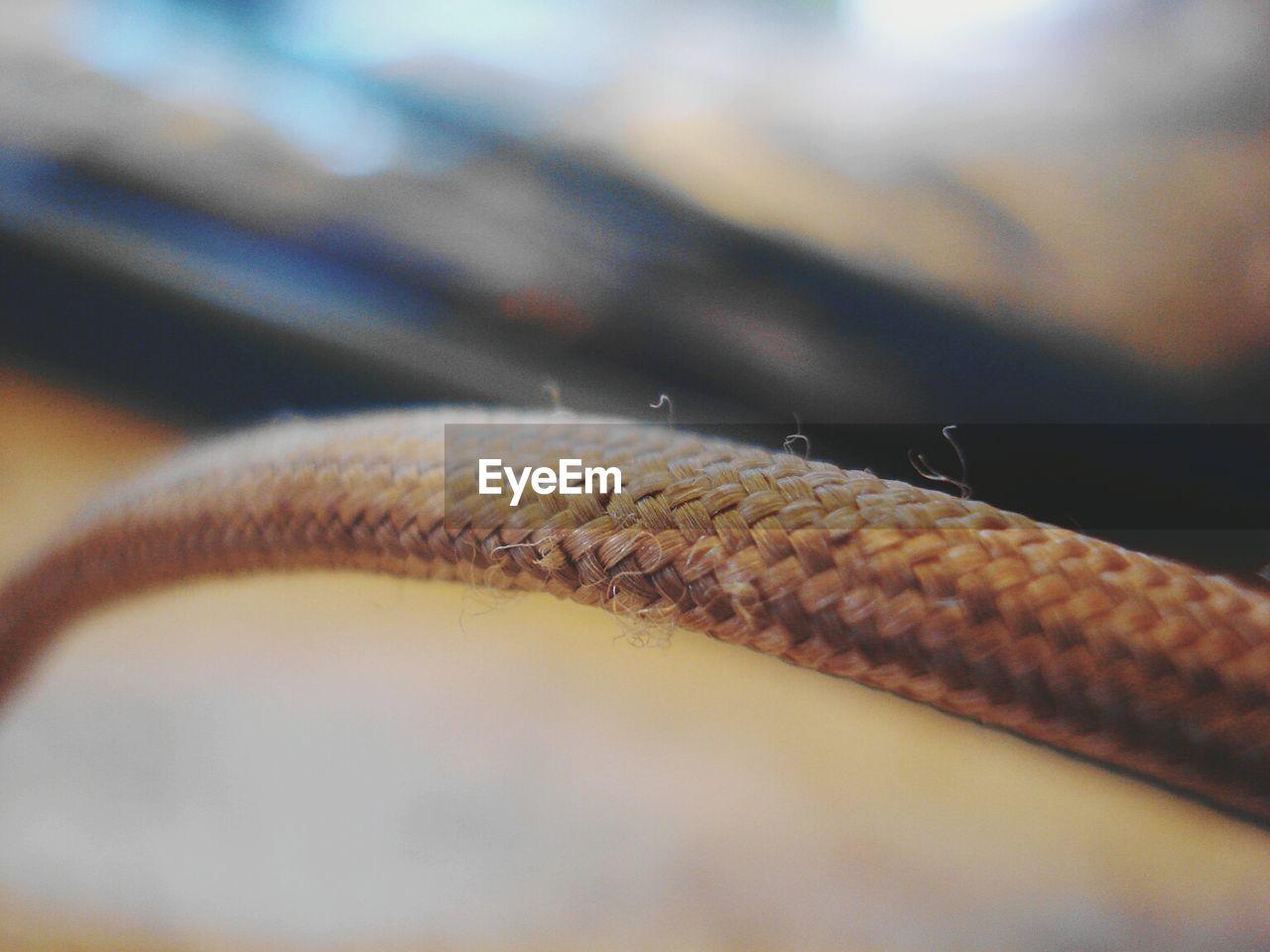 Close-Up Of Wicker Armrest