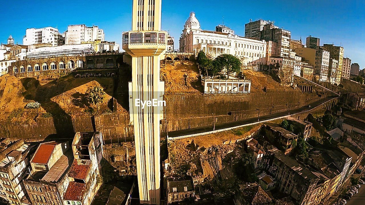 High angle view of elevador lacerda