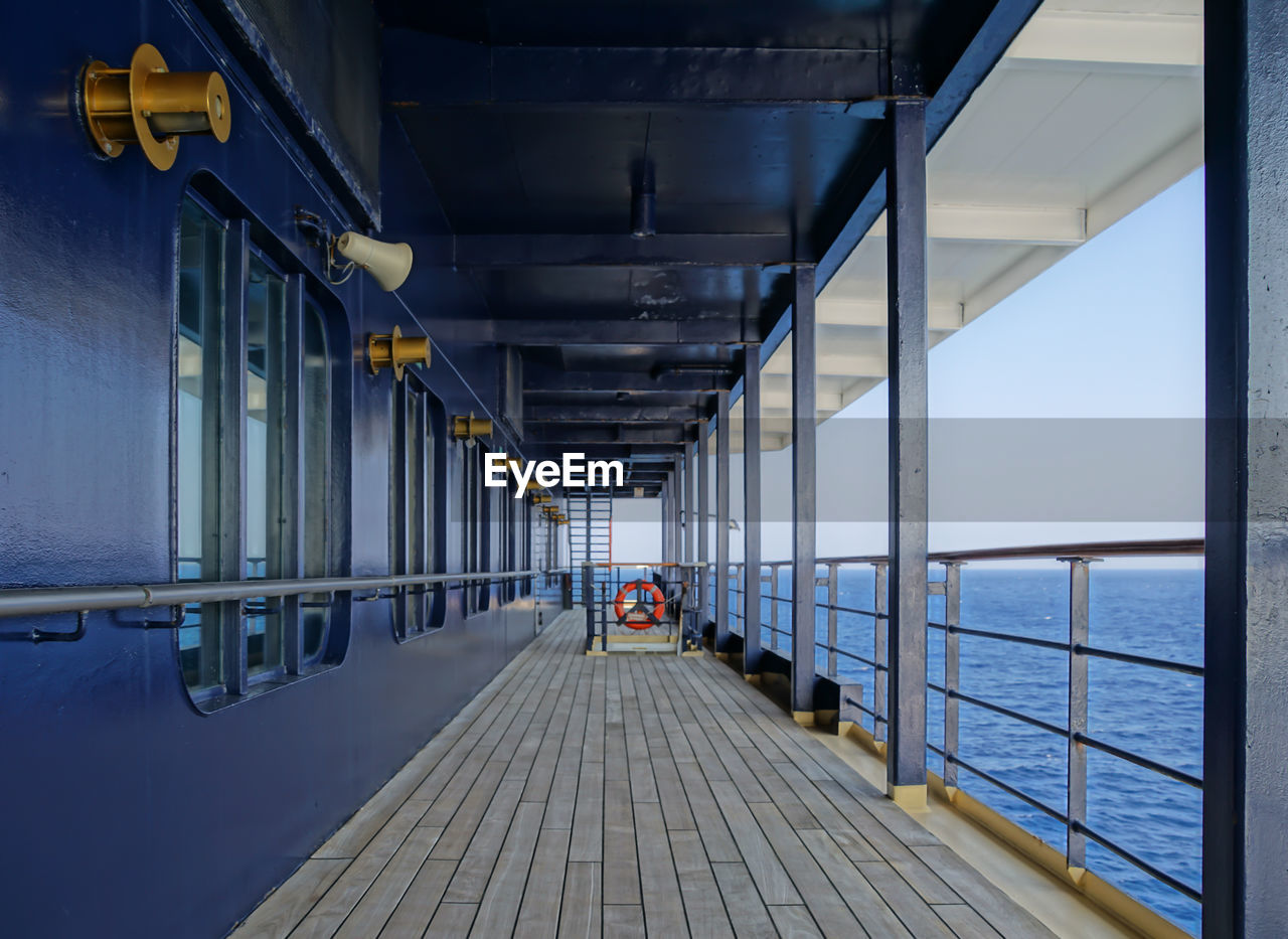 Empty Boat Deck At Cruise Ship