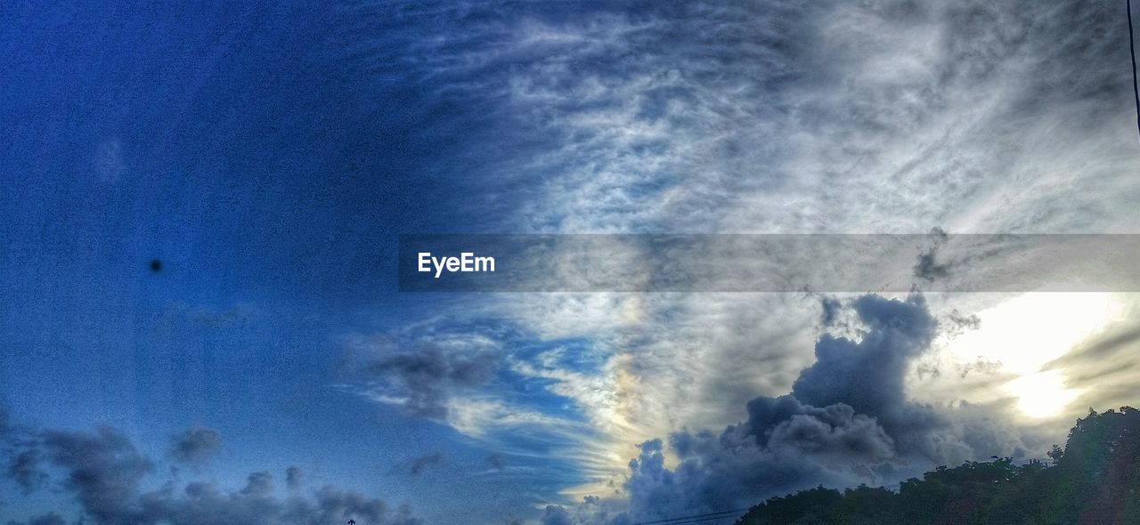 sky, cloud - sky, low angle view, beauty in nature, nature, blue, scenics, no people, tranquility, tranquil scene, outdoors, sky only, day