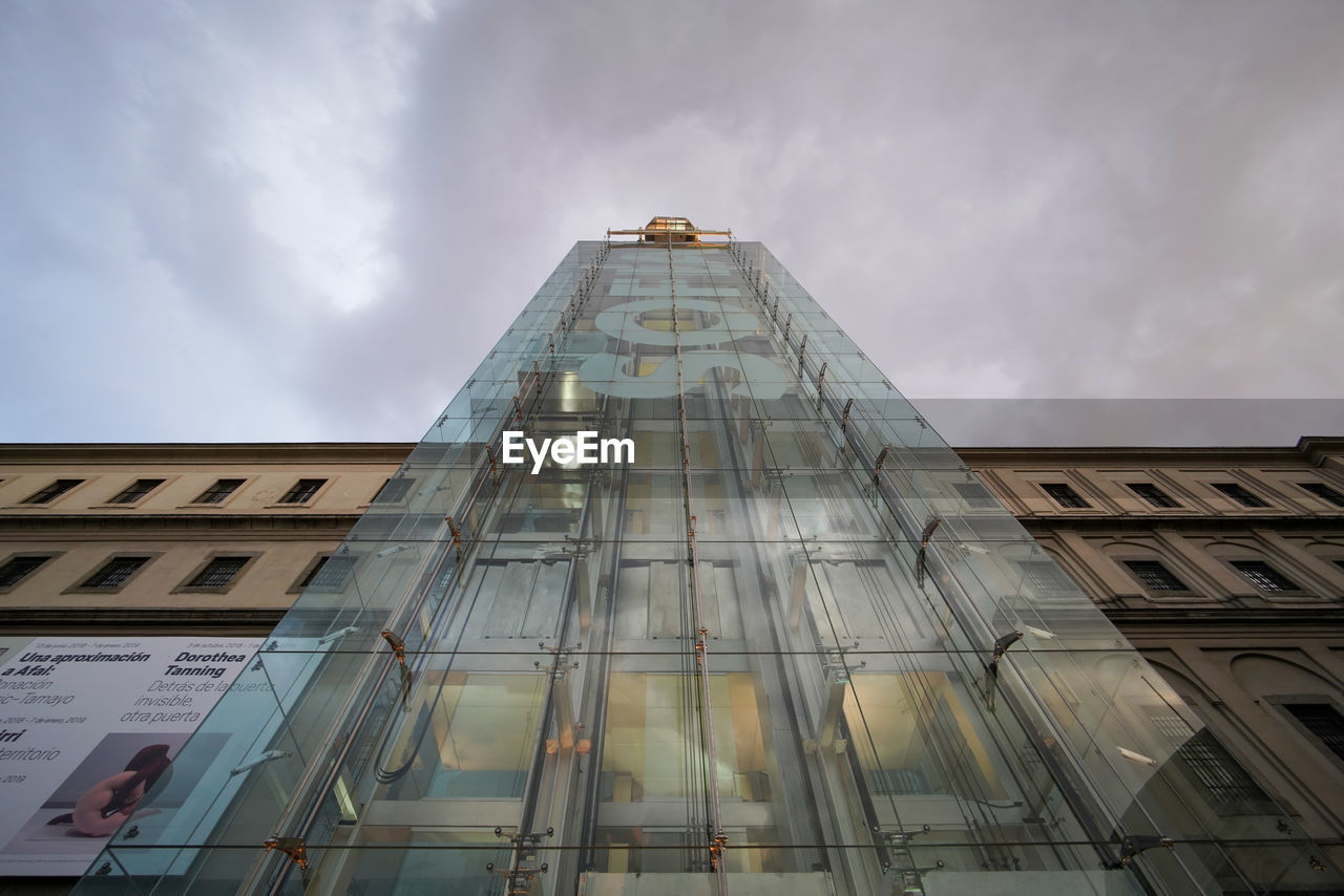 built structure, building exterior, architecture, low angle view, cloud - sky, sky, building, no people, city, modern, tall - high, nature, day, office building exterior, outdoors, skyscraper, glass - material, tower, window