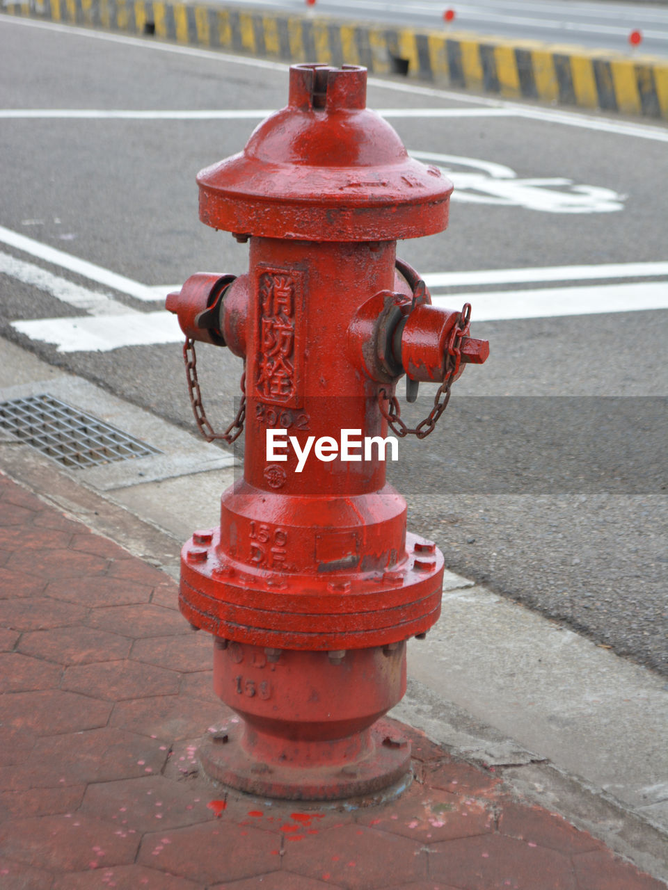 red, street, fire hydrant, road, outdoors, safety, day, protection, sidewalk, no people, city, water