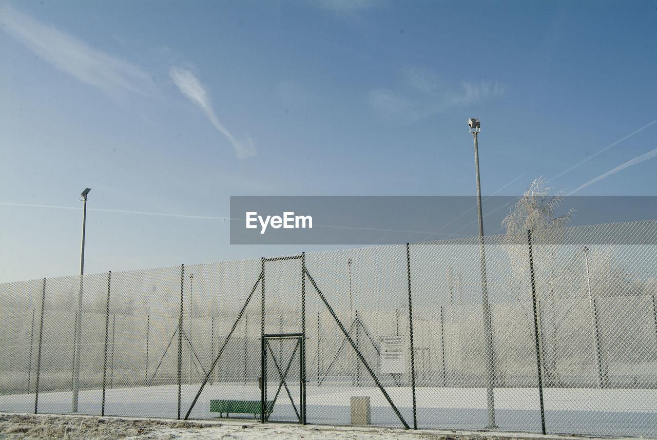 Fence against sky