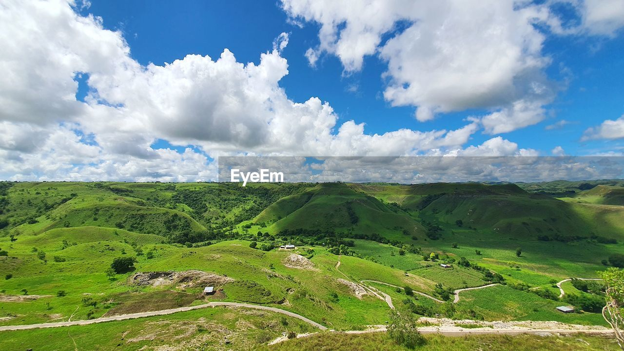 SCENIC VIEW OF LAND AND SKY
