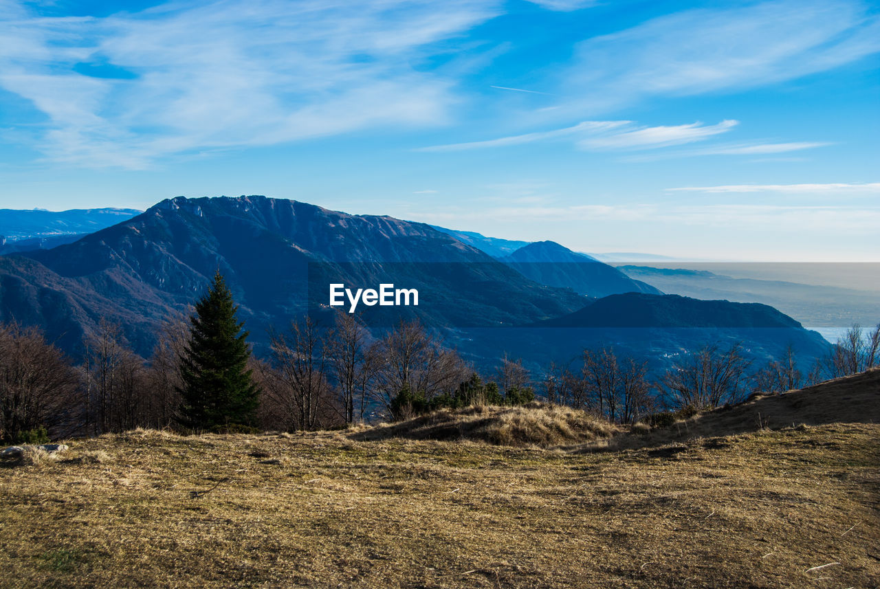 Scenic View Of Mountains Against Sky