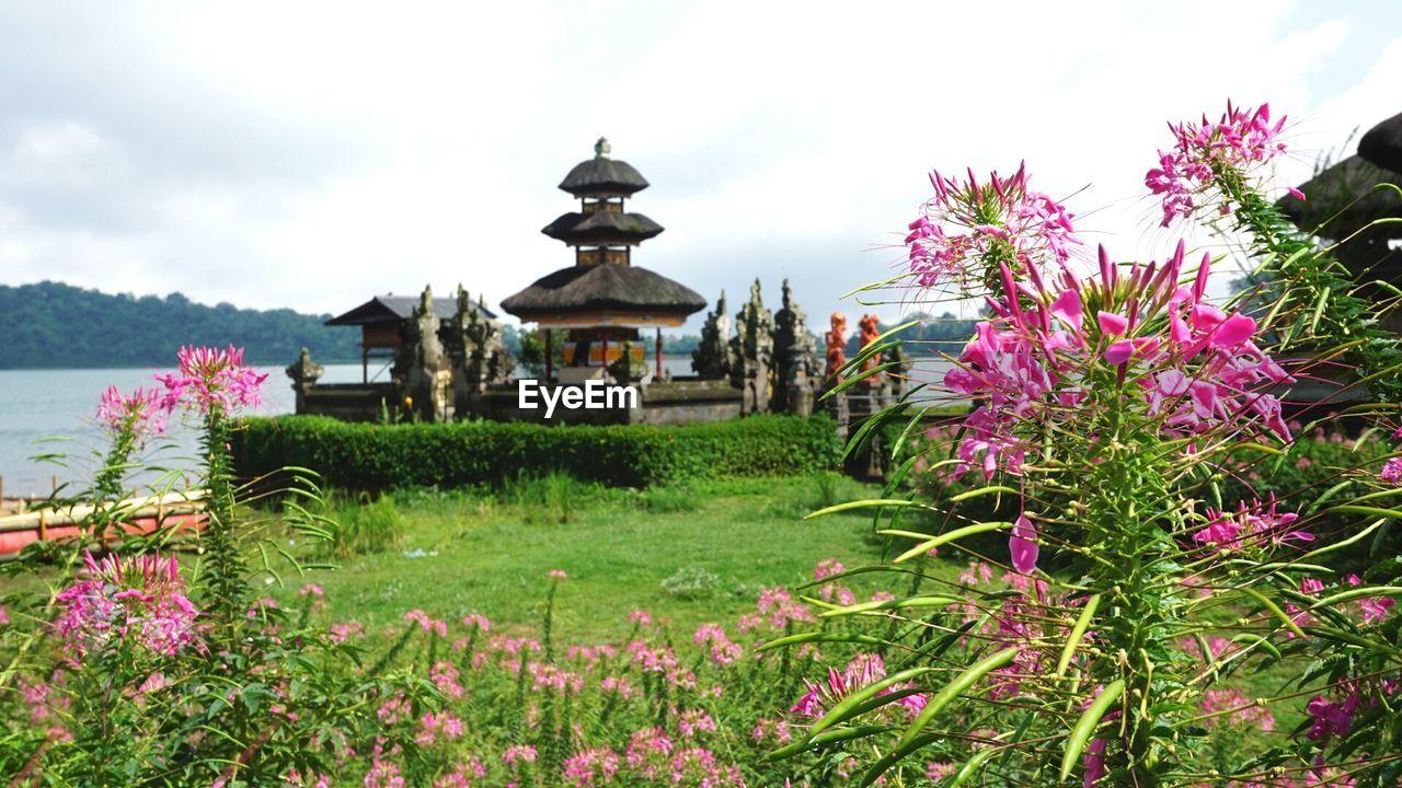Pura Ulu Danau Temple Against Sky