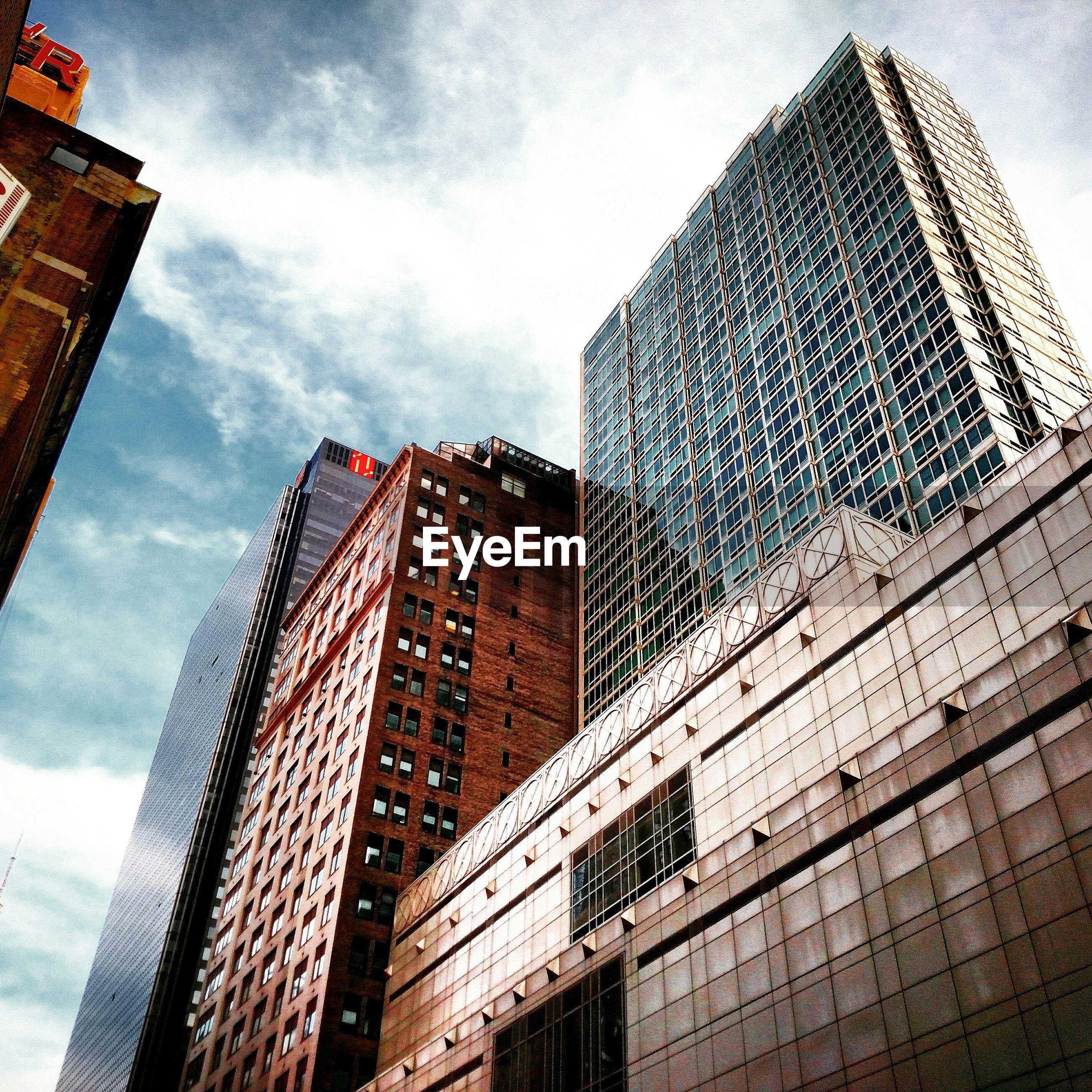 Exterior of modern buildings against sky