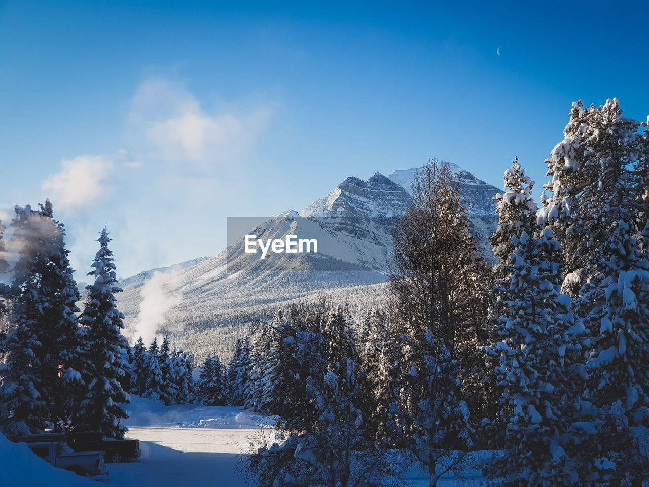 snow, winter, cold temperature, nature, beauty in nature, tranquility, tranquil scene, mountain, tree, scenics, snowcapped mountain, weather, sky, no people, mountain range, landscape, outdoors, day, blue, range
