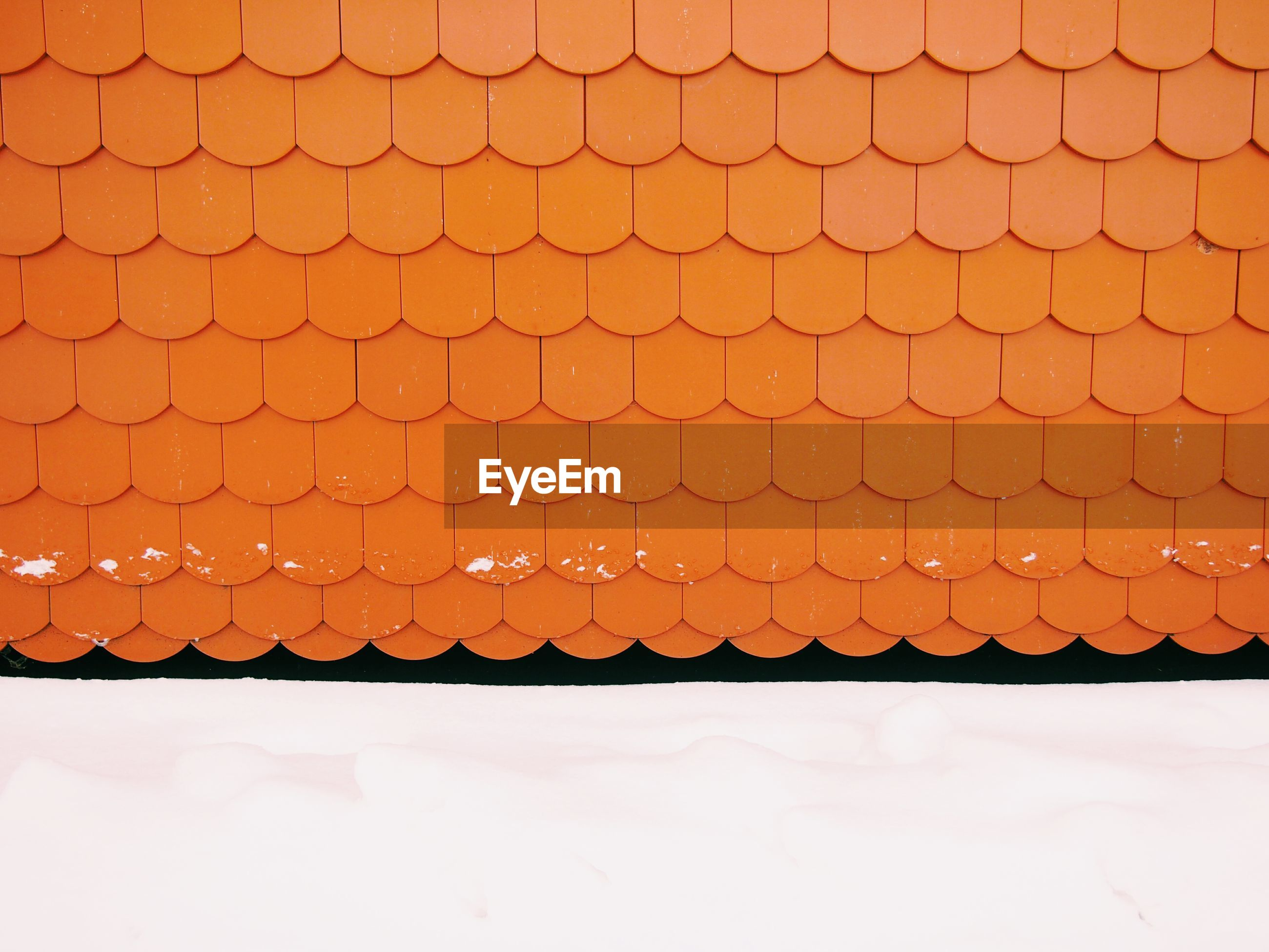 Orange roof on house