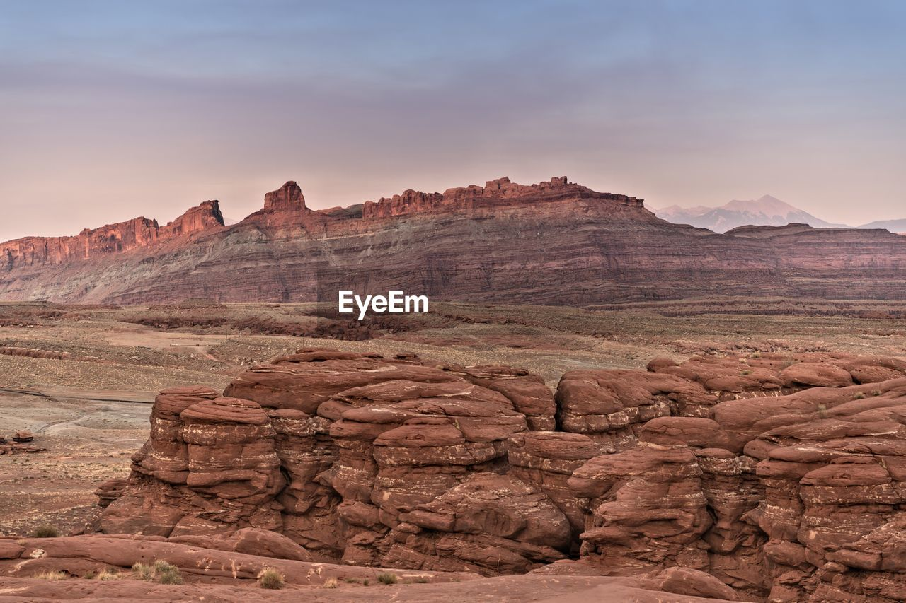 VIEW OF ROCK FORMATIONS IN CANYON