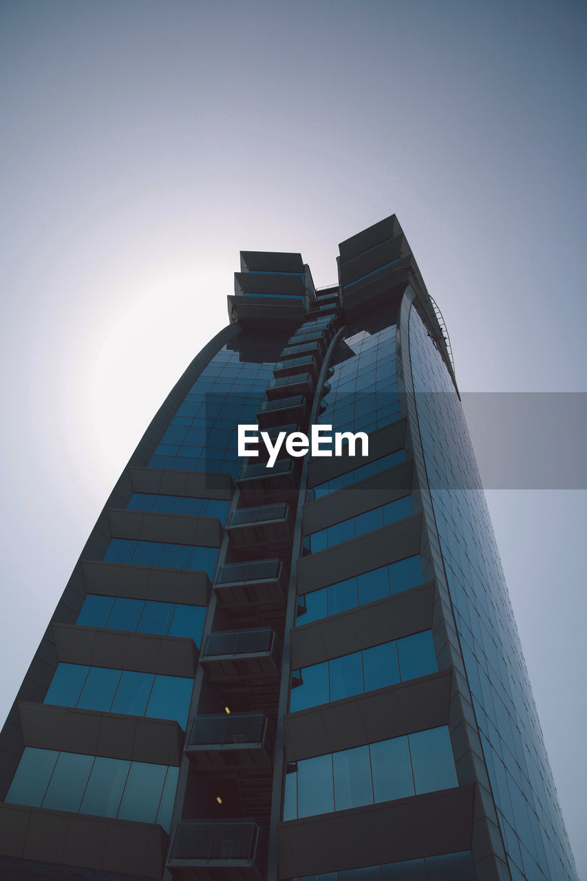 architecture, built structure, low angle view, building exterior, skyscraper, modern, tower, no people, clear sky, day, tall, outdoors, city, sky