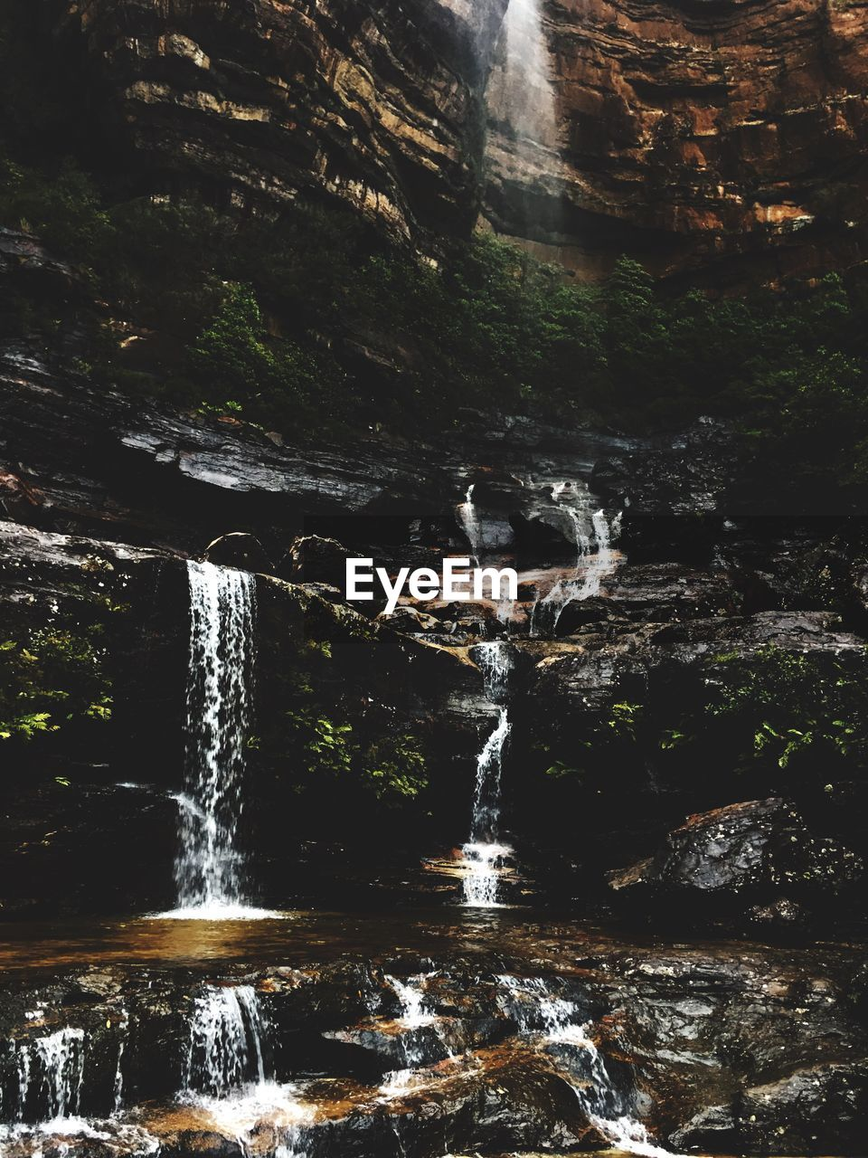 water, waterfall, flowing water, scenics - nature, beauty in nature, motion, rock, long exposure, nature, solid, rock - object, flowing, no people, blurred motion, forest, day, outdoors, environment, rock formation, falling water, power in nature, running water, rainforest