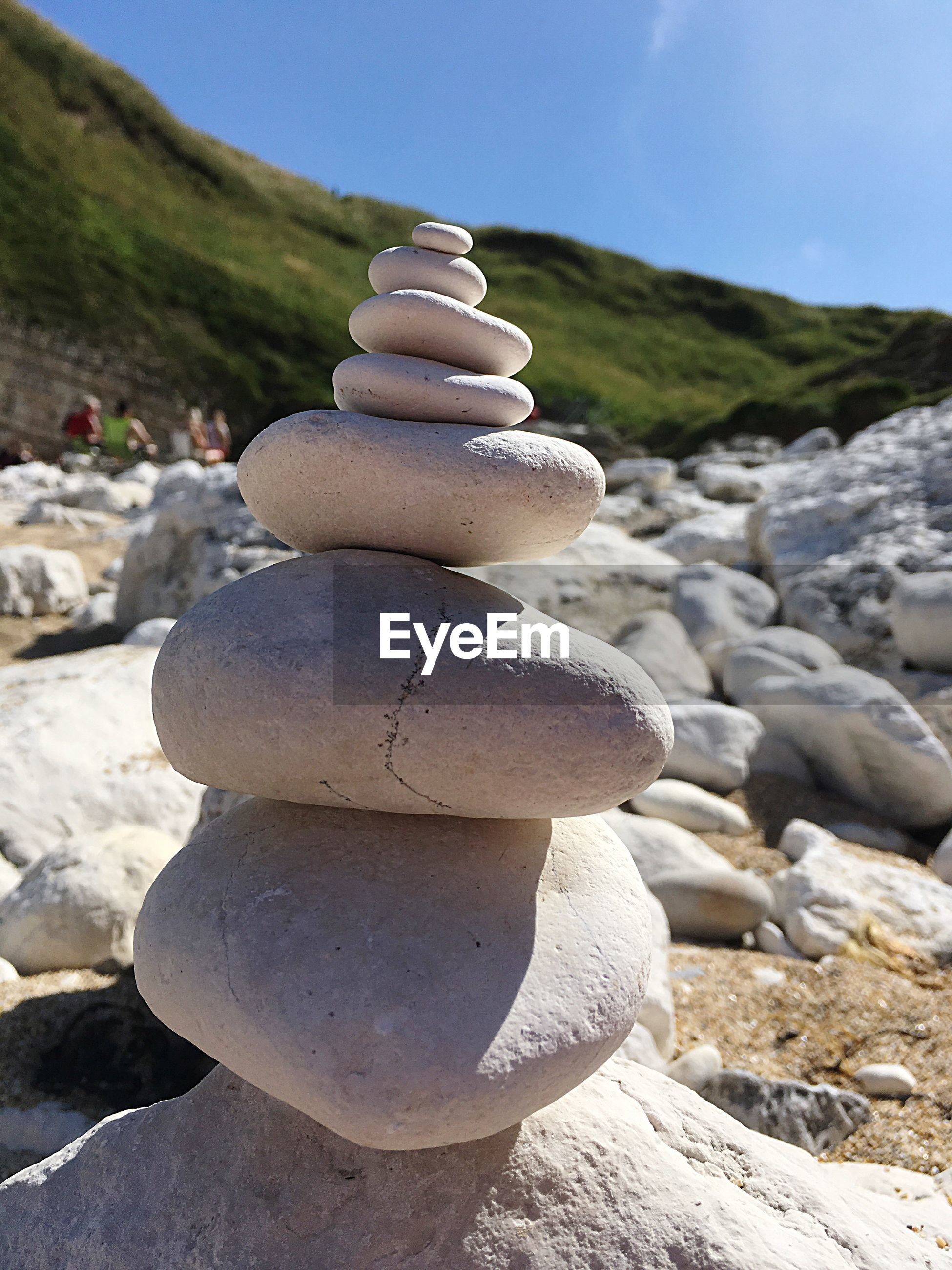 STACK OF PEBBLES ON MOUNTAIN