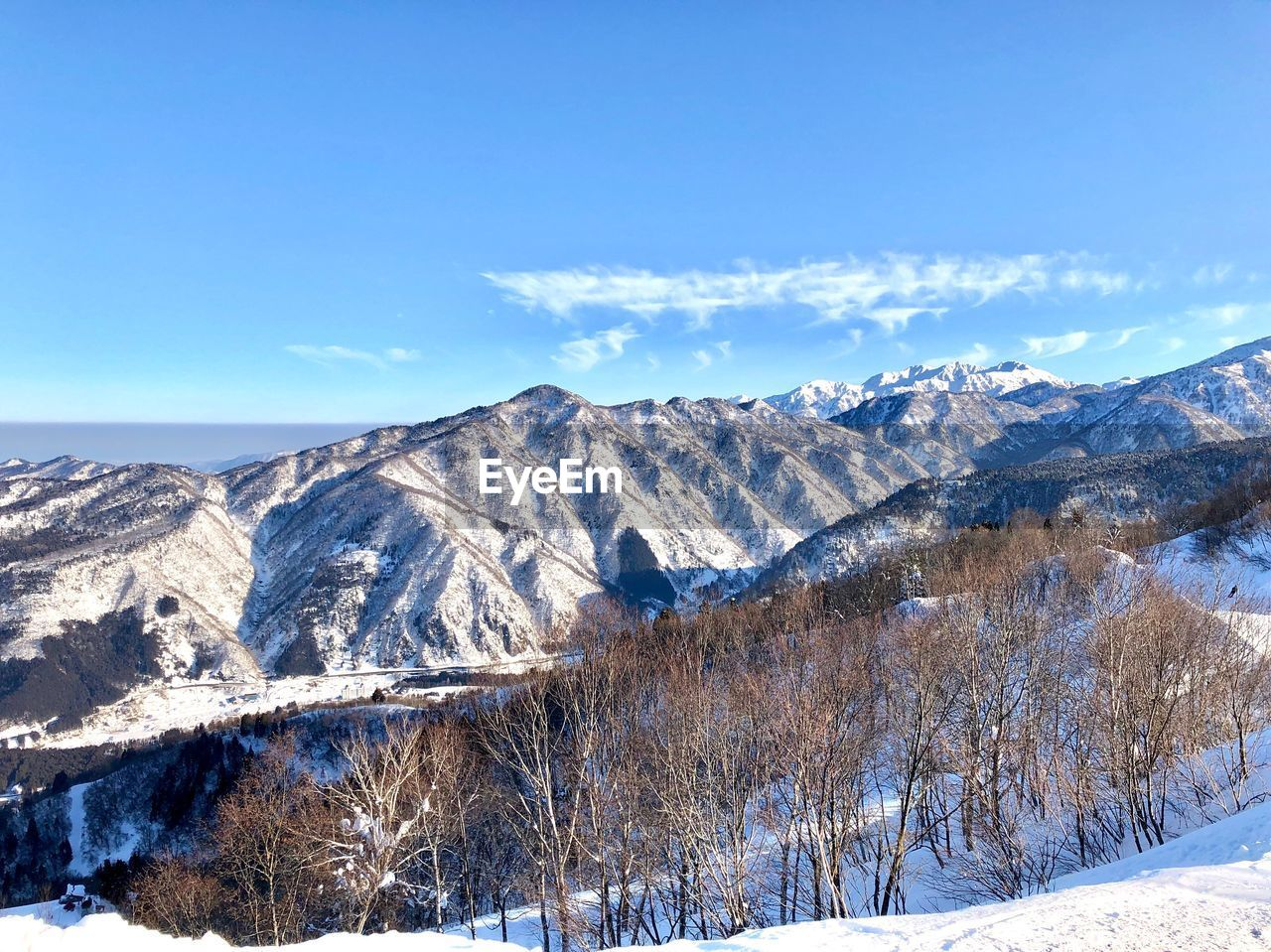 scenics - nature, sky, winter, beauty in nature, mountain, snow, tranquil scene, tranquility, cold temperature, environment, non-urban scene, landscape, mountain range, nature, cloud - sky, blue, day, no people, idyllic, snowcapped mountain, outdoors