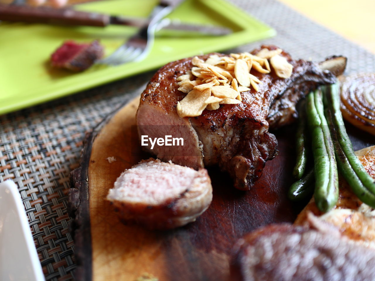 food, food and drink, freshness, ready-to-eat, still life, meat, close-up, table, indoors, plate, selective focus, no people, healthy eating, serving size, indulgence, meal, wellbeing, vegetable, temptation, dinner